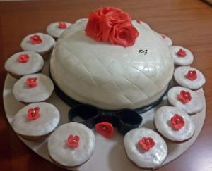 Torta e muffin perlati