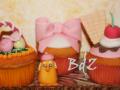 Muffin decorati con pasta di zucchero
