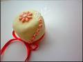 Mini cake con fiore